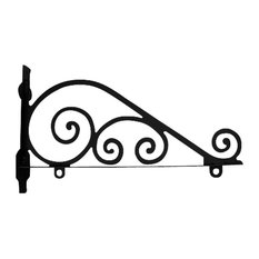 Wrought Iron Traditional Sign Post Bracket 36in