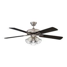 """52"""" Richmond Ceiling Fan, Stainless Steel"""