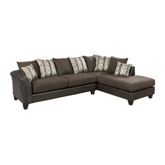 Flash Furniture   Contemporary Riverstone Rip Sable Chenille Sectional   Sectional  Sofas