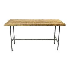 Table, Reclaimed Wood Thin Plank, Reclaimed Barn Wood, Dark Walnut, 30x60x30