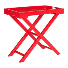 Safavieh Leo Accent Table, Hot Red