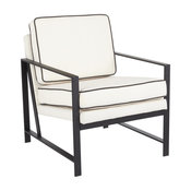 Lumisource Franklin Arm Chair With Black And Cream Finish CHR-FRANK BKCR