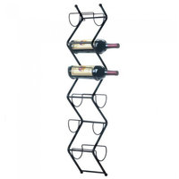 Zig-Zag Wall-Mounted Wine Rack