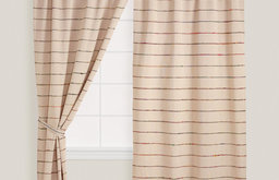 Natural Chambray Saree Curtain
