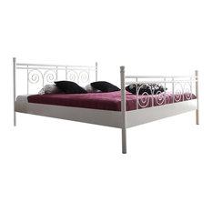 Rhodes Panel Bed, White, Super King