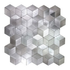 """Miseno MT-WHSEHMKLD-SI Enchanted Metals - 1"""" x 2"""" Cubed Wall - Silver"""