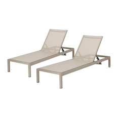 Outdoor Adjustable Chaise Lounge - Set of 2