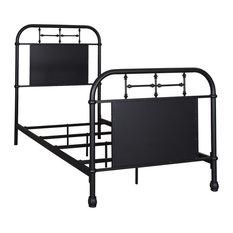 Liberty Furniture Vintage Series Twin Metal Bed, Black
