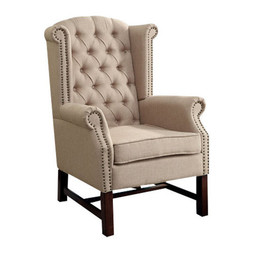 Manly Accent Chair, Beige By Acme Furniture