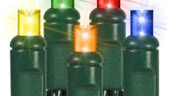 50 Light - LED - 25 ft. String - Multi-Color - Wide Angle - Omni-Directional