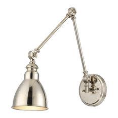 Dakota 1-Light Adjustable Sconce, Polished Nickel