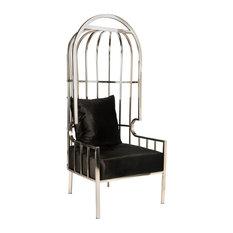 Anika Ballon Chair, Silver