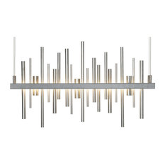 Hubbardton Forge 139725D-08-NO Cityscape Burnished Steel LED Linear Pendant
