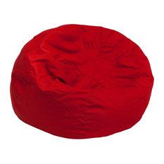 5fb8eb7fcb2 Flash Furniture - Flash Furniture Oversized Solid Red Bean Bag Chair - Bean  Bag Chairs