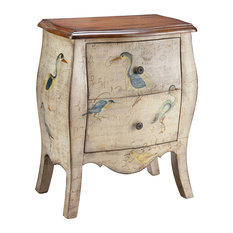 Stein World - Stein World Sterling Accent Chest, Antique White, Motif Multiple Colors 12025 - Accent Chests and Cabinets