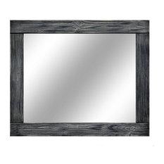 "Vintage Ebony Natural Rustic Style Vanity Mirror , 60""x30"""