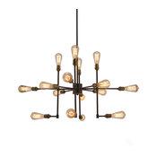 16-Light Sputnik Chandelier, Bronze