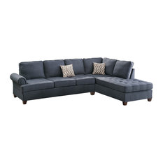 Blue Sectional Sofas Houzz