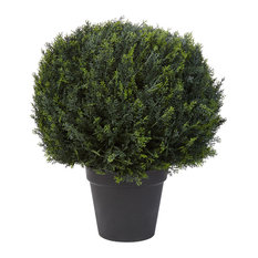 "Pure Garden Artificial Cypress Ball Topiary 23"" Faux Plant"