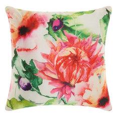 """Nourison T1715S2020 Watercolor Wildflower 20""""x20"""" Square, Multicolor"""