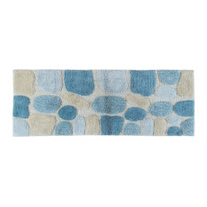 Chesapeake Merchandising, Inc   Pebbles Bath Rug Runner, Aquamarine   Bath  Mats
