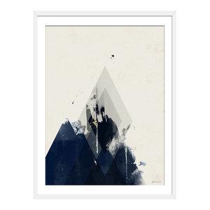 """Fade Away"" Abstract Art Print, White Framed, 40x50 cm"