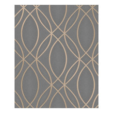 Lisandro Taupe Geometric Lattice Wallpaper Bolt