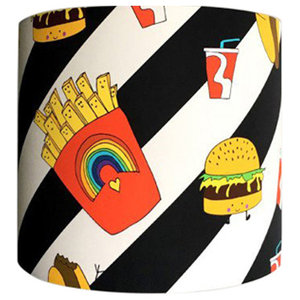 Patterned Lampshade, Junk Food Deluxe, 35x20 cm