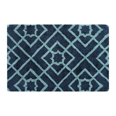 Diamond Lattice Door Mat, 2'x3', Navy