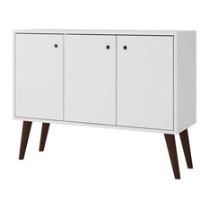 """Bromma 35.43"""" Buffet Stand With 3 Shelves and 3-Door, White"""
