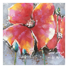 Hand Painted Flowers Wall Decor Artwork VII