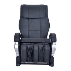 ExacMe   Exacme Electric Full Body Shiatsu Massage PU Leather Chair, Black    Massage Chairs