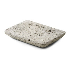 Serene Spaces Living Decorative Pumice Stone Dish, Unique Lava Rock Plate