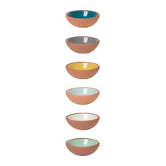 Now Designs Dip Terracotta Pinch Bowls, 6-Piece Set