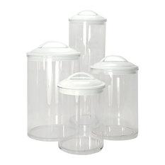 Calypso Basics 4-Piece Acrylic Canister Set, White