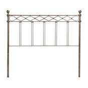 Argyle Headboard With Round Finial Posts and Diamond Wire Grill, King