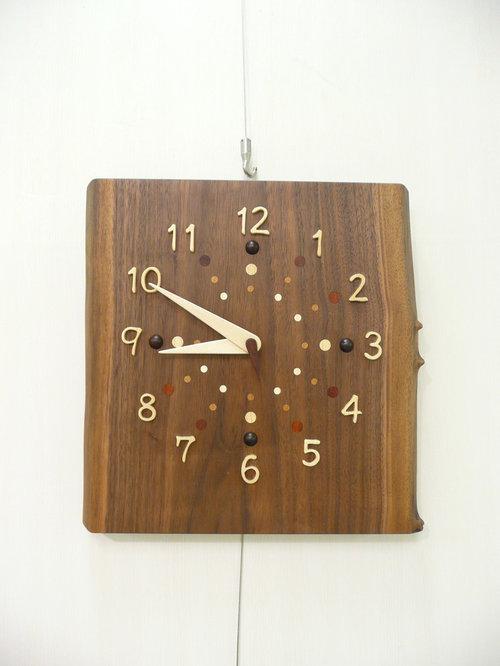 一枚板時計(ウォールナット)3 - 時計