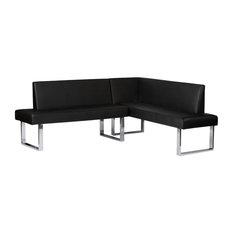 Amanda Corner Sofa, Black