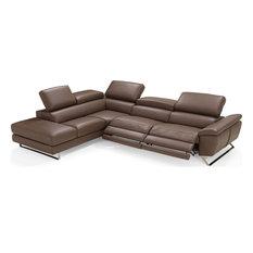 Natalia Sectional - Brown Full Grain Italian Leather Left Facing
