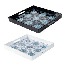 Square Decorative Tray 2-Piece Set