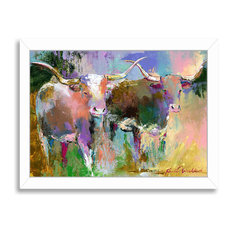 """Texas Longhorns,"" Art Print, 19""x25""x1"""