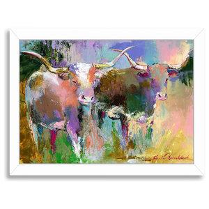 """Texas Longhorns,"" Art Print, 12""x15""x1"""