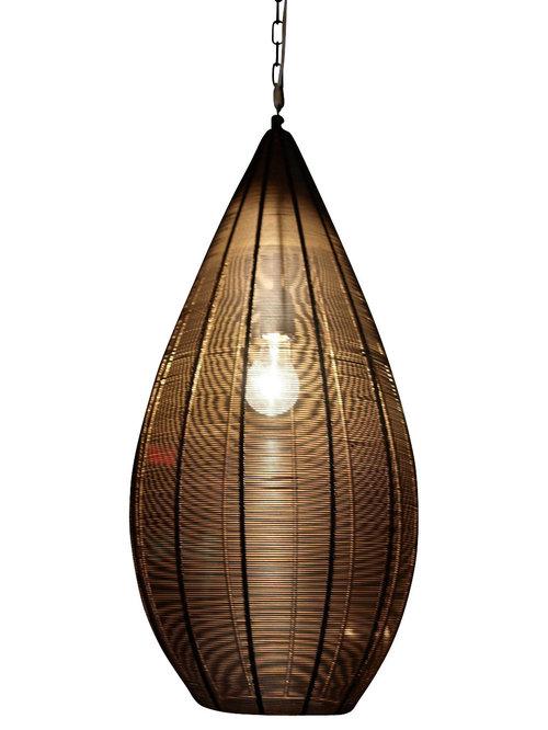Artemano teardrop hanging lamp metal wire 12x12x24