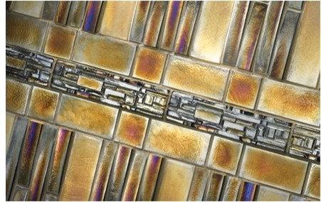 Iridescent Mosaic Pieces - Tile