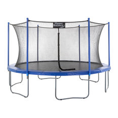 upper bounce 14u0027 trampoline and enclosure set with the easy assemble feature trampolines