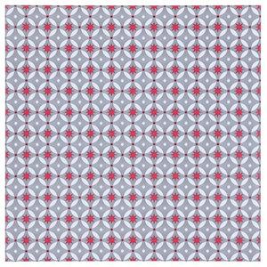 Red Stars Vinyl Floor Tiles, 7m2