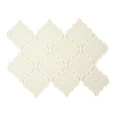 Cream Arabesque Glass Tile, Sample