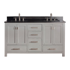 "Avanity Modero 61"" Double Vanity, Chilled Gray Finish, Chilled Gray Finish"