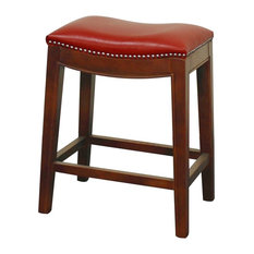 Residence Stedman Leather Counter Stool Red Bar Stools And