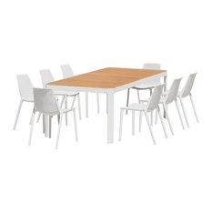 Amazonia Charlotte 9-Piece Rectangular Patio Dining Set